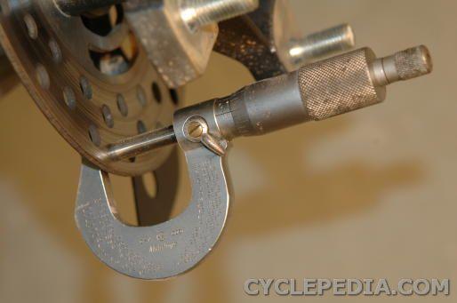 front brake disc inspection DVX400 KFX400 LT-Z400