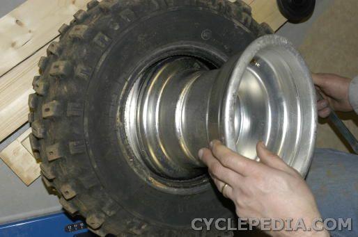 tire change DVX400 KFX400 LT-Z400