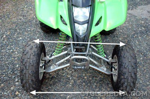 steering alignment DVX400 KFX400 LT-Z400