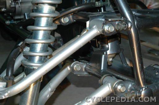 front suspension removal DVX400 KFX400 LT-Z400