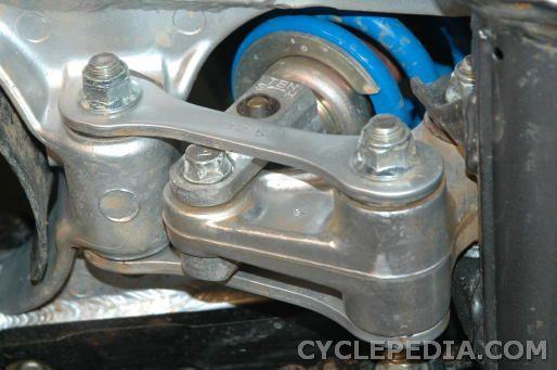 kdx200 kdx220 shock absorber removal
