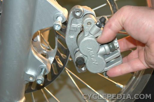 kdx200 kdx220 front brake caliper removal