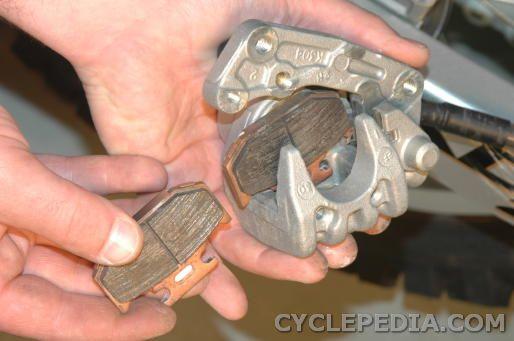 kdx200 kdx220 rear brake pad replacement