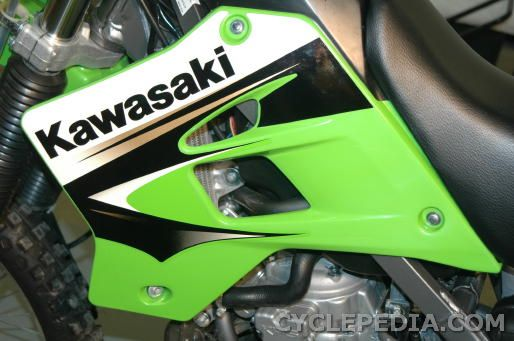 kawasaki kdx 200 220 manual service and repair cyclepedia kdx200 kdx220 radiator shroud