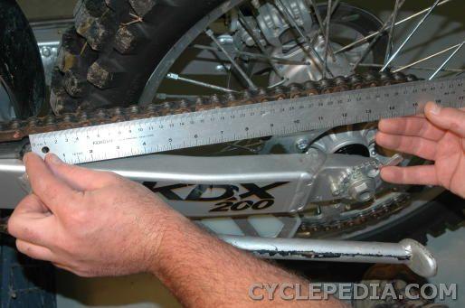 kdx200 kdx220 drive chain inspection
