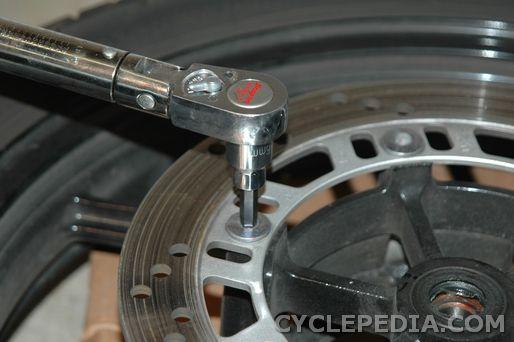 brake disc removal ninja ex250r