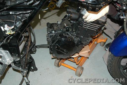 engine removal ninja ex250r