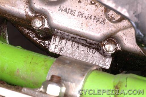Kawasaki KDX200 vin number indentification