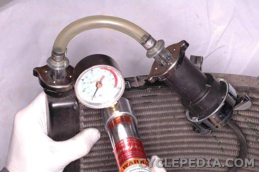 Kawasaki KDX200 radiator testing
