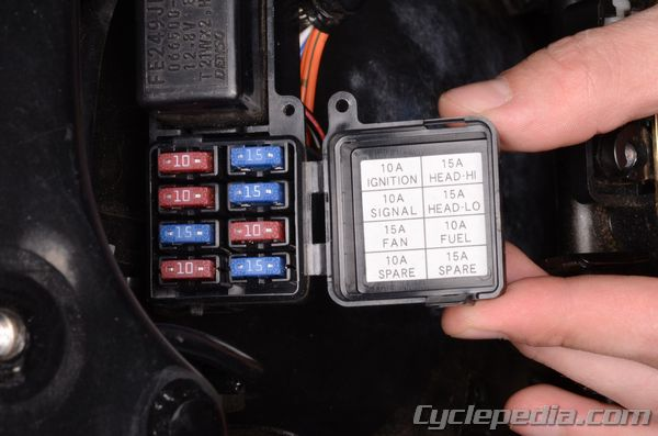 Fuses and relays cyclepedia suzuki sv online service