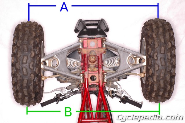 atv front end alignment toe in toe out procedure