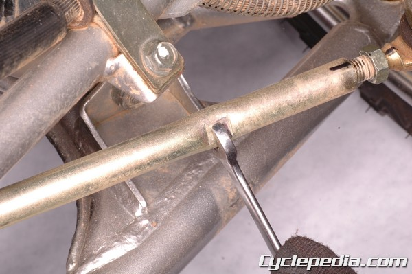 for atv front end alignment, turn the tie rods with a wrench at the flats to change the toe-in