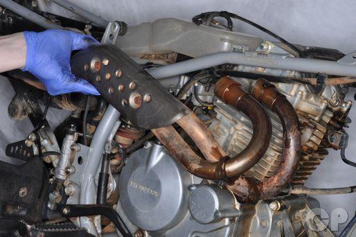 Honda TRX400EX Exhaust System Removal