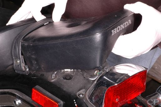 Honda Rebel 250 seat removal