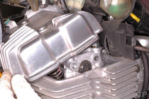 Honda Rebel 250 cylinder head cover removal
