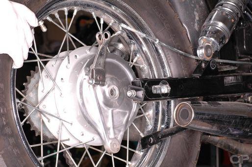 Honda Rebel 250 rear wheel removal