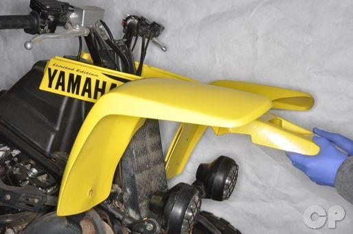 Install bodwork on your Yamaha YFZ350 Banshee with the Cyclepedia.com Yamaha YFZ350 Banshee Online Service Manual