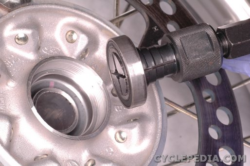 Honda CRF450 wheel bearing replacement