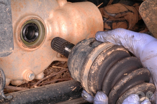 Mule CV boot replacement axle removal and installation