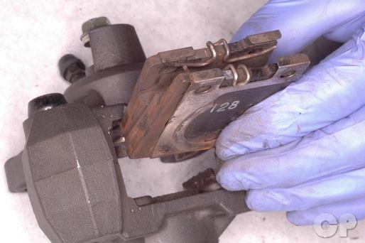 Suzuki Katana GSX600F and GSX750F brake pad replacement