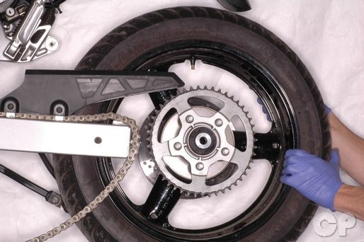 Suzuki Katana GSX600F and GSX750F rear wheel removal