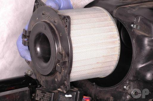 Suzuki Katana GSX600F and GSX750F air filter replacement