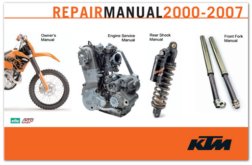 Official 2000-2007 KTM 250-610 Racing Manuals from Cyclepedia