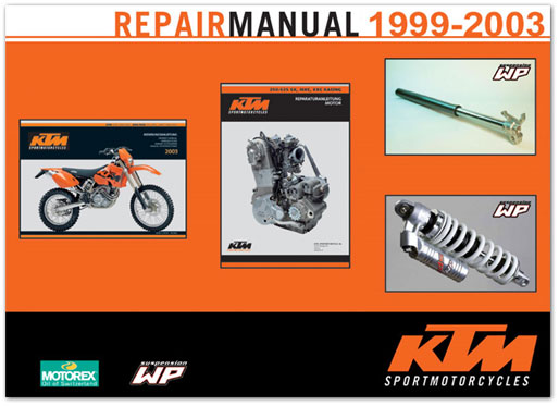 Official 1999-2003 KTM 250-525 SX, MXC, EXC Manuals