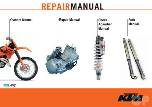 official 1999 2010 ktm 125 144 150 200 two stroke manuals cyclepedia rh cyclepedia com ktm 125 sx 2004 repair manual ktm 125 sx 2003 service manual