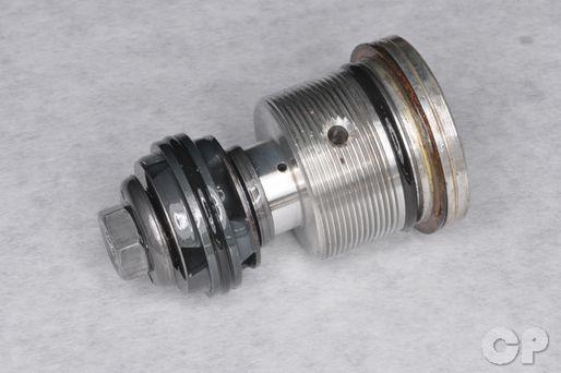 Inspect the fork valve for damage.