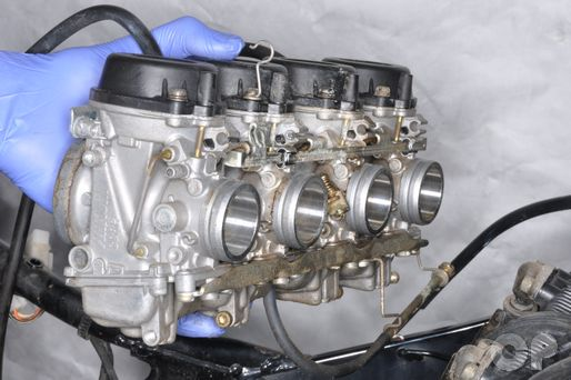 GSX600F Suzuki Katana carburetor removal and installation