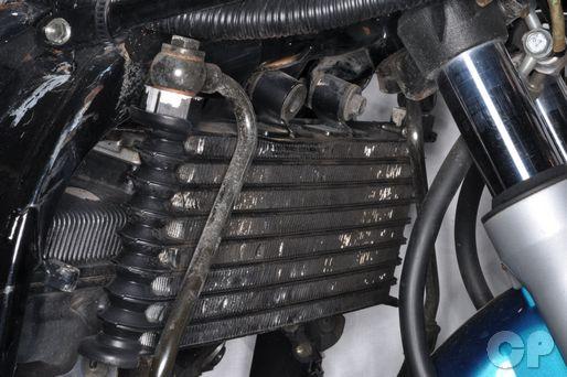 GSX600F Suzuki Katana oil cooler installation