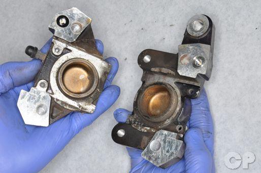 Suzuki Katana rear brake caliper rebuild
