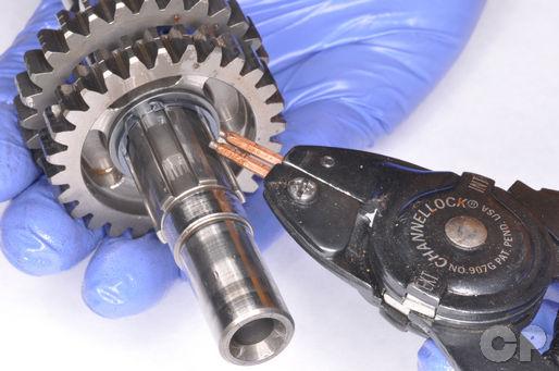 Honda CR80 CR85 servive manual transmission gear disassembly