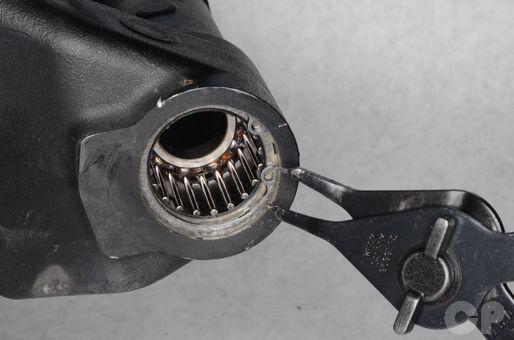 Honda CBR600RR swingarm bearing service