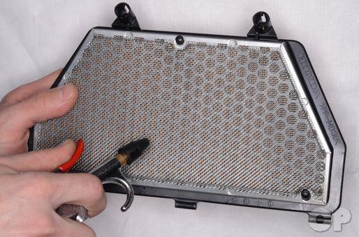 Honda CBR600RR Air Filter Service.