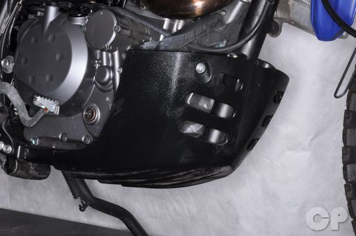 2008 Kawasaki KLR650 engine guard removal and installation