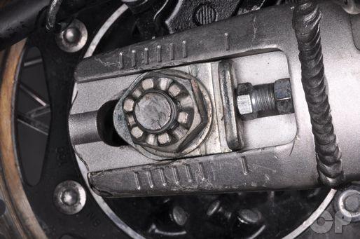 2008 Kawasaki KLR650 drive chain adjustment