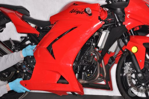 Remove the farings from the 2008 - 2011 ninja 250R.