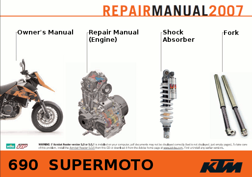 Official Ktm 690 Supermoto Repair Manuals