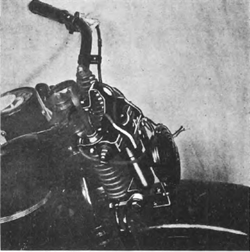 Harley-Davidson suspension and frame information for 1940 to 1947 models.