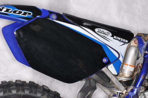 YZ-125 rear number plate side covers
