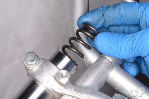 Kawasaki KX60 front fork spring replacement removal rebuild oil level