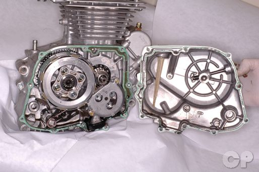 honda cb250 nighthawk cyclepedia online motorcycle repair manual honda cb250 nighthawk crankcase cover removal installation