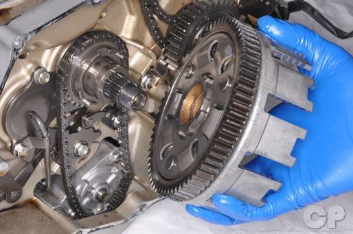 Honda Shadow VT600 clutch basket removal
