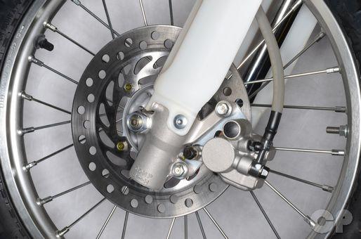 Honda CRF150R front brake caliper rebuild