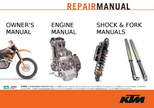 KTM 450 SX-F Online Service Manual 2007 505 SX-F 450 SXS-F