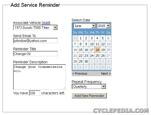 Maintenance Record Keeping, Made Easy - Cyclepedia