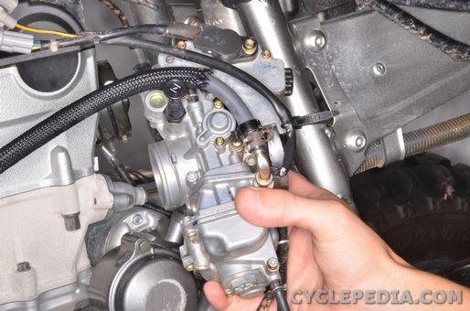 yamaha yfz450 carburetor removal rebuild installation