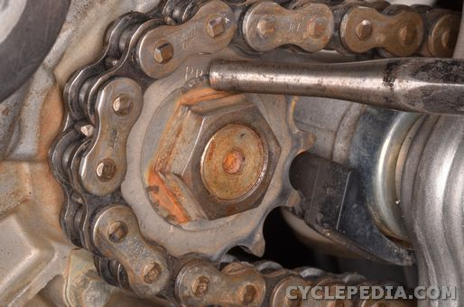 yamaha yfz450 chain sprocket replacement inspection
